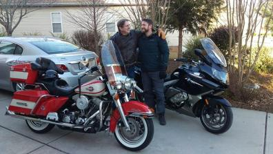 Wes and Trent pre-ride in Carolina